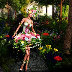 irrISIStible : SPRING WIND  OUTFIT + SHOES AND HAIRS (daneensands) Tags: spring wild wind irrisistible swank shop fantasy mesh dress outfit fairy clothes