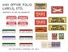 Folio Labels (Nik the Booksmith) Tags: youtube nik folio booksmith office vintage fragile ticket stamps mini