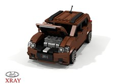 Lada XRAY Crossover - 2016 (lego911) Tags: autovaz lada xray cuv crossover russia russian renault group 2016 2010s wagon auto car moc model miniland lego lego11 ldd render cad povray suv