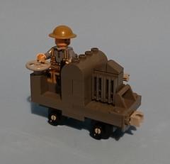WW1 Narrow gauge 20hp Simplex engine. (KPFR5Q2XZXQW774THJOIGWTBCI) Tags: lego army british narrowgauge railway tommy westernfront simplex 20hp