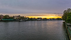 Twilight from the bridge (PhredKH) Tags: canonphotography fredkh photosbyphredkh phredkh splendid putney putneybridge twilight water river riverthames thames london cityoflondon goldensky sky boats canoneos5dmarkiii 2470mm ef2470mmf4lisusm