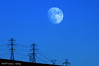Moon Over Electric Canyon (Gary L. Quay) Tags: moonoverelectriccanyon moon over elecric canyon power washington dusk wires powertransmission neopseudo garyquay gary quay nikon d300