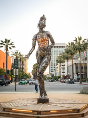 Tara Mechani (flrent) Tags: metal figurative sculpture by bay area artist dana albany tara mechani art burning man san jose sj downtown cesar chavez plaza place female buddha california francisco sf