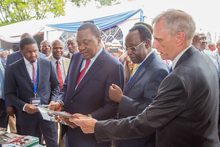 HE Uhuru Kenyatta, touring the exhibition stands at the AVCD National Conference