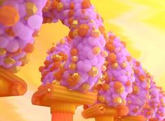 SSS Balls Alpha  WUT (RandomMan) Tags: octane octanerender sss subsurface scattering c4d cinema 4d cinema4d art abstract motoin mograph mdcommunity 3d otoy everyday colorful balls spiral fun loops fruity