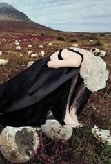 death of a son (narghee-la) Tags: art arte collage colagem surrealism surrealismo woman mulher blonde eggs ovos death morte sadness tristeza