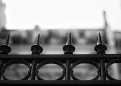 when words become unclear (Mister Blur) Tags: fence friday happy monochrome bokeh thursday 5éme arrondissement quartier latin blackandwhite bw blancoynegro depthoffield dof snapseed nikon d7100 50mm f18 rubén rodrigo fotografía