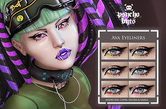 .{PSYCHO:Byts}. Ava Eyeliners Pack (The Fantasy Collective (May 10th - June 10th)) (Psikotik Gothly - .{PSYCHO:Byts}. Owner) Tags: {psychobyts} thefantasycollective catwa eyeliners makeup cyborg cyberpunk futuristic future robot robo fantasy
