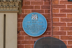 Dame Isobel Baillie 1895-1983   Born at Hawick and educated at Manchester High School  This internationally famous soprano sang with the Halle Orchestra and lived here 1938-81 (nick.harrisonfli) Tags: plaque trafford singer dameisodelbaillie blue opera manchester soprano halleorchestra hawick manchesterhighschool stretford london england unitedkingdom gb openplaques:id=49405