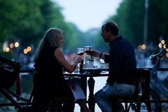 Lovebirds 2. (Michael Degenhart) Tags: amsterdam romance lovebirds city urban street canals dusk