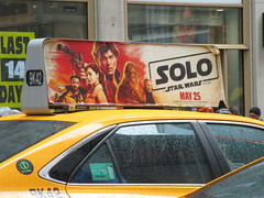 Solo Star Wars Movie Poster Taxi Cab Ad Fin 1839 (Brechtbug) Tags: solo a star wars movie poster taxi cab ad fin alden ehrenreich han donald glover lando calrissian joonas suotamo chewbacca woody harrelson tobias beckett may 2018 new york city portrait portraits eight story space opera film science fiction scifi robot metal man adventure galactic prototype design metropolis standee nyc billboard billboards posters 7th ave 42nd street ads advertisement advertisements 05132018 st avenue