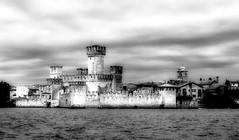 Castle of Sirmione (Franco-Iannello) Tags: blackwhite landscape lakegarda