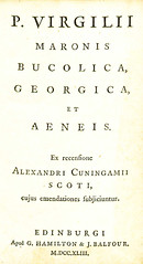 P. Virgilii Maronis Bucolica, Georgica, et Aeneis, 1743 (Title page) (College of William & Mary Law Library) Tags: virgil rarebooks wythes library