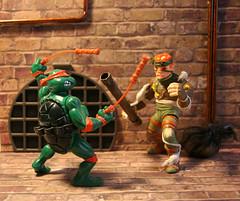 Go ninja, go! (Mike's Toy Story) Tags: tmnt ninja turtles nunchaku mike playmates 1988 toys vintage