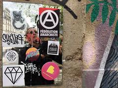 Federation Anarchiste | Sheila (david ross smith) Tags: paris france graffiti ad sign signage poster sticker art 11tharr 11tharrondissement jeanaicardsquare