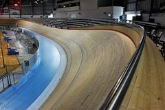 Velodrome (Rosemary Komori) Tags: bycycling velodrome curves interiors wood sports venue ontario racing miltonontario haltonregion track oval cycling