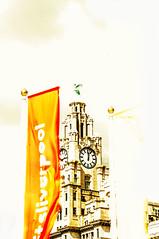 Bleached (Tony Shertila) Tags: liverpool england unitedkingdom gbr europe britain merseyside albertdock liverbuilding archite structure clock hikey skyscraper ediface
