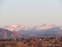 April 27, 2018 - Snow-capped mountains in the distance. (David Canfield)