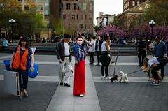 WashingtonSqPrk(NYC) (bigbuddy1988) Tags: red people portrait photography nikon d7000 art new digital usa nyc manhattan woman newyork city park