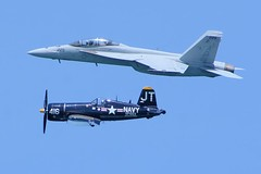 Ft Lauderdale Airshow 05May18.02 (Pervez 183A OFF due to recovery from surgery) Tags: fa18f superhornet usnavy fighterjet f4ucorsair airshow ftlauderdale florida legacyflypast