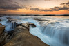 incoming tide (Andy Kennelly) Tags: pacific ocean wave water wet wild clouds motion san diego sunset california
