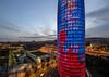Torre Glòries, Barcelona, Spain (globetrekimages) Tags: barcelona spain architecture building tower city urban dusk