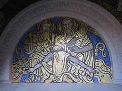 Danse macabre, Chapelle funéraire de Berny, cimetière de Guiscard (60) (Yvette G.) Tags: guiscard oise 60 picardie grandest chapellefunéraire mosaïque dansemacabre artdéco