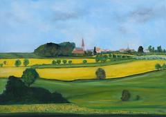 Ma campagne au printemps (Croc'odile67) Tags: nikon d3300 contemporary 18200dcoshsmc painting peintureàlhuile oilpainting peinture