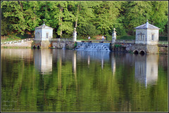 Reflections at Studley Royal - photographic watercolour DSC_0365** (M a r k.............) Tags: studleyroyal watergarden water studleyroyalwatergarden nationaltrust reflection reflections waterfall ripon fountainsabbey study lake riverskell skell studley swan unesco world heritage site worldheritagesite unescoworldheritagesite englishheritage johnaislabie williamaislabie aislabie yorkshire northyorkshire countryside trees tree rural green ripple rippled riffle rip ripples watercourse landscape urbanlandscape markbarratt sparkymarkymb