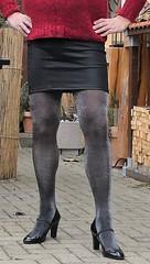180220_02 (mathildecross) Tags: crossdress crossdressing crossdresser cd outdoor pantyhose pumps