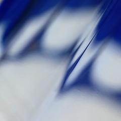 beyond blue (vertblu) Tags: glass blueglass blue bluewhite white stainedglass cutglass diagonal abstract abstrakt abstraction abstracted abstractsquared 500x500 kwadrat bsquare vertblu macromode macro blurred blur blurry dof edge