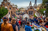 Industrial Tourism (dorinser) Tags: crowded park landmark catalunya barcelona spain guell photographers tourists tourism