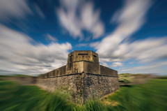 Magazine fort (Lorrainemorris) Tags: dublin grass artisticphotography creative landscape blue sky warm summer ireland 1635zeiss motion architecture clouds longexposure colours zeiss sony phoenixpark magazinefort wall