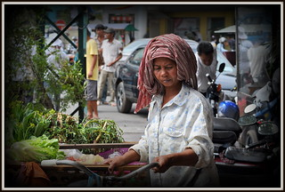 Vendeuse Ambulante du Cambodge.