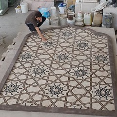 . #Quality_control time. Another masterpiece done! یه شاهکار سنگی دیگه تموم شد. #کنترل_کیفی و #بسته_بندی، یه نفس راحت می کشی که بالاخره این کار هم به صورت ایده آل تموم شد! 😊 #stone_medallion #waterjet #معرق_سنگی #واترجت (Mehdi Heidarzadeh) Tags: wwwvenicestonecom stone marble onyx travertine granite limestone sandstone blocks