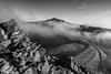 'Elidir In The Mist' - Snowdonia (Kristofer Williams) Tags: marchlynmawr elidirfawr carneddyfiliast mist fog cloud stone rock mountain mountainside mountains snowdonia wales landscape bw mono lake water dam