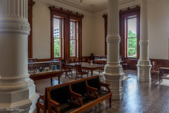 2015 - Texas (Mark Bayes Photography) Tags: texasstatecapitol usnationalregisterofhistoricplaces usnationalhistoriclandmark recordedtexashistoriclandmark texasstateantiquitieslandmark elijahemyers italianrenaissancerevival downtownaustin texaslegislature officeofthegovernor civilengineer reubenlindsaywalker pillars chairs tables window texas stateoftexas thelonestarstate texan tx tex lonestar usa unitedstates unitedstatesofamerica