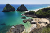 (Julia C. F) Tags: water rock sea bay brazil beach sunny ocean shore coast island