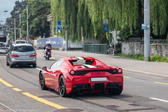 458 Speciale A (Nico K. Photography) Tags: ferrari 458 speciale a red white stripes rare supercars nicokphotography switzerland zürich black