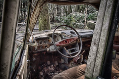 Lost in the woods (FrankWepunkt) Tags: abandoned decay belgium lostplaces urbex car eos7d canon