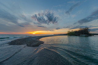 Sunset at Fish Point Provincial Park, Pelee Island, Ontario, Canada