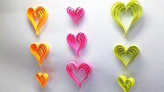 DIY Room Decoration Ideas with Paper Heart - Wall Hanging Craft Ideas (ufnmimcp) Tags: youtube origami papers made colors paper