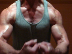 FLEXING BIG BULGING BICEPS (FLEX ROGERS) Tags: muscle muscles muscular bicep biceps bodybuilder bodybuildinh chest pecs delts traps lats workout flex flexing abs guns massive big bulging huge musclemodel fit fitness weights