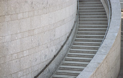 Endless Staircase (Bas Tempelman) Tags: stairs köln keulen cologne city endless bricks marble abstract kodak portra 160 nikon f801s curved staircase
