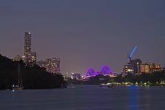 Deep Purple on the Story Bridge (noompty) Tags: brisbane brisbaneriver night storybridge city cityscape on1pics k1 pentax photoraw2018 zeiss carlzeiss zk makroplanart2100
