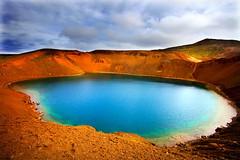 Viti Crater, Askja Caldera, Krafla Volvano, Iceland (klauslang99) Tags: klauslang nature naturalworld iceland viti crater askja caldera lake water sky volcanic
