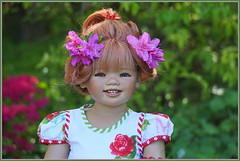 Sanrike ... unser Blumenmädchen ... (Kindergartenkinder 2018) Tags: gruga grugapark essen azaleen kindergartenkinder sanrike annette himstedt dolls