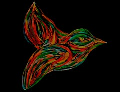 A Bit of Whimsical Color (jlynfriend) Tags: phonephoto lg art artwork drawing sketching color deepcolor bird green orange yellow darkblue gold