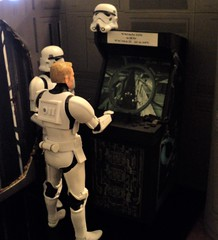 Defend the Death Star (ToyPhotos) Tags: custom starwars 112 twelthscale 6inchblackseries stormtroopers deathstar stardestroyer arcade aurebesh hasbro 3dprinted toy action figure