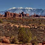 If You're Going to Have a Backdrop, You Might as Well Have Mountains (Arches National Park) thumbnail